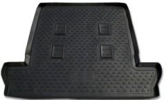 Коврик в багажник для Lexus LX 570 '08- (7 мест, длинный) полиуретановый (NorPlast) черный