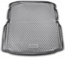 Коврик в багажник для Skoda Octavia A7 '13- седан (с органайзером), полиуретановый (Novline / Element) черный