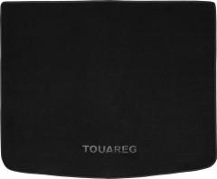 Коврик в багажник для Volkswagen Touareg '02-09, текстильный черный (Премиум)