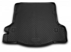 Коврик в багажник для Renault Logan '13- седан, полиуретановый (Novline / Element) черный