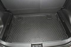 Коврик в багажник для Kia Venga '10- (нижний), полиуретановый (Novline) черный