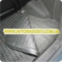 Фото 5 - Коврик в багажник для Kia Cerato '04-09 седан, полиуретановый (Novline) черный