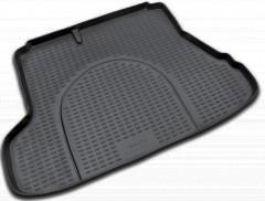 Фото 1 - Коврик в багажник для Kia Cerato '04-09 седан, полиуретановый (Novline) черный