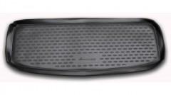 Коврик в багажник для Kia Mohave '09- (7 мест, короткий), полиуретановый (Novline / Element) черный