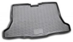 Коврик в багажник для Nissan Tiida '15-, хетчбэк, полиуретановый черный (Novline)