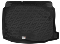 Коврик в багажник для Seat Leon '12-, нижний, резино/пластиковый (Lada Locker)