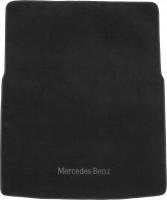 Коврик в багажник для Mercedes GL-Class X164 '06-11, длинный, текстильный черный