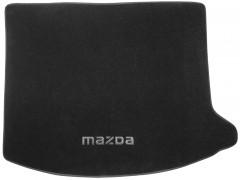 Коврик в багажник для Mazda 3 '04-09 хетчбэк, текстильный черный