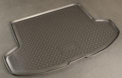 Коврик в багажник для Mitsubishi Lancer X '07- хетчбэк, резино/пластиковый (NorPlast) черный