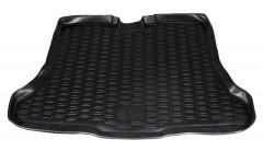 Коврик в багажник для Nissan Tiida '05-14 хетчбэк, полиуретановый (Novline / Element) черный