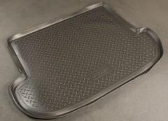 Коврик в багажник для Hyundai Santa Fe '06-10 CM (5 мест), полиуретановый (NorPlast) черный