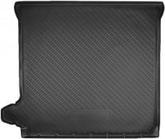 Коврик в багажник для Nissan Pathfinder '05-14, резино/пластиковый, черный (Nor-Plast)