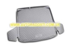 Коврик в багажник для Skoda Fabia II '07-14 универсал, полиуретановый (Novline) черный