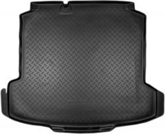 Коврик в багажник для Volkswagen Polo '10- седан, полиуретановый (NorPlast) черный