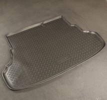 Коврик в багажник для Hyundai Accent (Solaris) '11-17 седан, полиуретановый, с складыв. сиден. (NorPlast) чер
