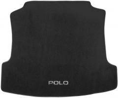 Коврик в багажник для Volkswagen Polo '10- седан, текстильный черный