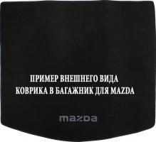 Коврик в багажник для Mazda 6 '02-08 универсал, текстильный черный