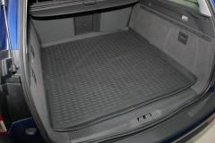 Коврик в багажник для Opel Vectra C '02-08 универсал, полиуретановый (Novline) черный