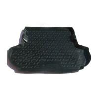 Коврик в багажник для Citroen C-Crosser '07-12 (без сабвуфера), резино/пластиковый (Lada Locker)