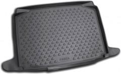 Коврик в багажник для Skoda Fabia II '07-14 хетчбэк, полиуретановый (Novline / Element) черный