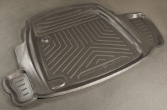 Коврик в багажник для ГАЗ 31105 Волга, резино/пластиковый (NorPlast) черный