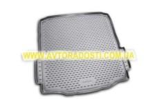 Коврик в багажник для Skoda Superb '09-14 седан, полиуретановый (Novline) черный