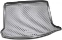 Коврик в багажник для Renault Sandero '08-12, полиуретановый (Novline / Element) серый