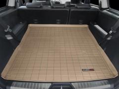 Коврик в багажник для Mercedes GL-Class X164 '06-11, длинный, резиновый (WeatherTech) бежевый