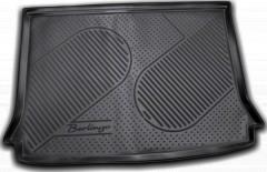 Коврик в багажник для Citroen Berlingo '97-07 (пасс.), полиуретановый (Novline / Element) черный EXP.C000000013