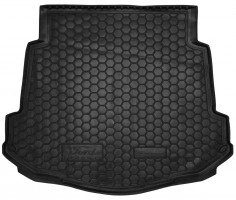 Коврик в багажник для Ford Mondeo '07-14 седан, с докаткой, резиновый (AVTO-Gumm)