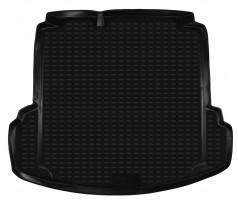 """Коврик в багажник для Volkswagen Jetta VI '10-, коврик с """"ушами"""", полиуретановый (Novline / Element) черный"""
