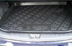 Коврик в багажник для Mitsubishi ASX '10-, резино/пластиковый (Lada Locker)