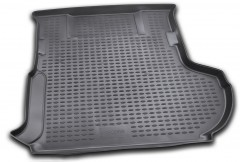 Коврик в багажник для Citroen C-Crosser '07-12 (с сабвуфером), полиуретановый (Novline / Element) черный