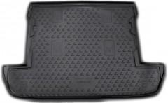 Коврик в багажник для Lexus LX 570 '08- (7 мест, короткий), полиуретановый (Novline) черный