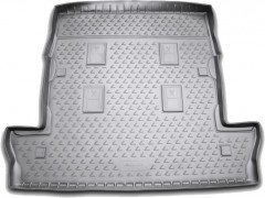 Коврик в багажник для Lexus LX 570 '08- (7 мест, длинный) полиуретановый (Novline / Element) серый