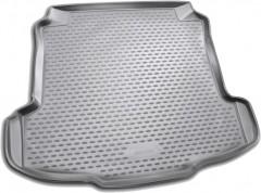 Коврик в багажник для Volkswagen Polo '10- седан, полиуретановый (Novline / Element) серый