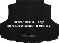 Коврик в багажник для Mitsubishi Pajero Wagon 3 (III) '00-07, текстильный черный