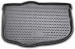 Коврик в багажник для Kia Soul '09-13 (нижний), полиуретановый (Novline / Element) черный