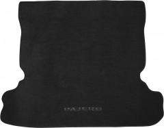 Коврик в багажник для Mitsubishi Pajero Wagon 4 (IV) '07-, текстильный черный
