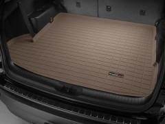 Коврик в багажник для Toyota Highlander '14-, длинный, резиновый (WeatherTech) бежевый