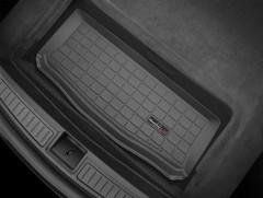 Коврик в задний багажник для Tesla Model S '12- резиновый, нижний (WeatherTech) черный