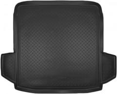 Коврик в багажник для Volkswagen Passat B6 '05-10 седан, полиуретановый (NorPlast) черный