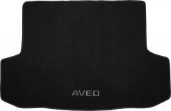 Коврик в багажник для Chevrolet Aveo '06-11 седан, текстильный черный