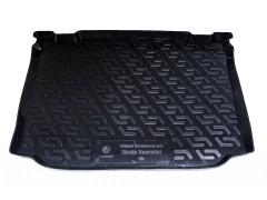 Коврик в багажник для Skoda Roomster '07-, резиновый (Lada Locker)