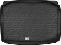 Коврик в багажник для Skoda Fabia II '07-14 хетчбэк, резиновый (Lada Locker)