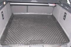 Фото 2 - Коврик в багажник для Renault Laguna '07-15 универсал, полиуретановый (Novline / Element) черный