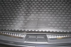 Фото 5 - Коврик в багажник для Renault Laguna '07-15 универсал, полиуретановый (Novline / Element) черный
