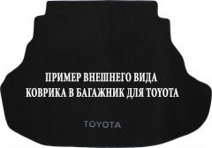 Коврик в багажник для Toyota LC 100 '98-07, с прорезями для установки 3-го ряда текстильный черный