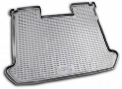 Коврик в багажник для Fiat Doblo Panorama '01-09, короткая база без сетки, полиуретановый (Novline / Element) черный
