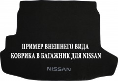 Коврик в багажник для Nissan Patrol '04-09, текстильный черный